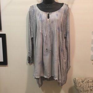 NWT Bandolino soft slate Daniella shirt sz L